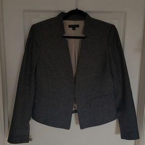 Ann Taylor Grey Tweed Blazer